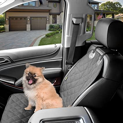 Dog Front Car Seat Cover Waterproof Non Slip Padded Quilted Protector With Anchors And