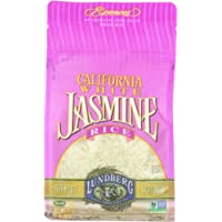 Lundberg Family Farms Rice Eco-Farmed California Jasmine White, Gluten Free, 32-ounces (Pack of6)