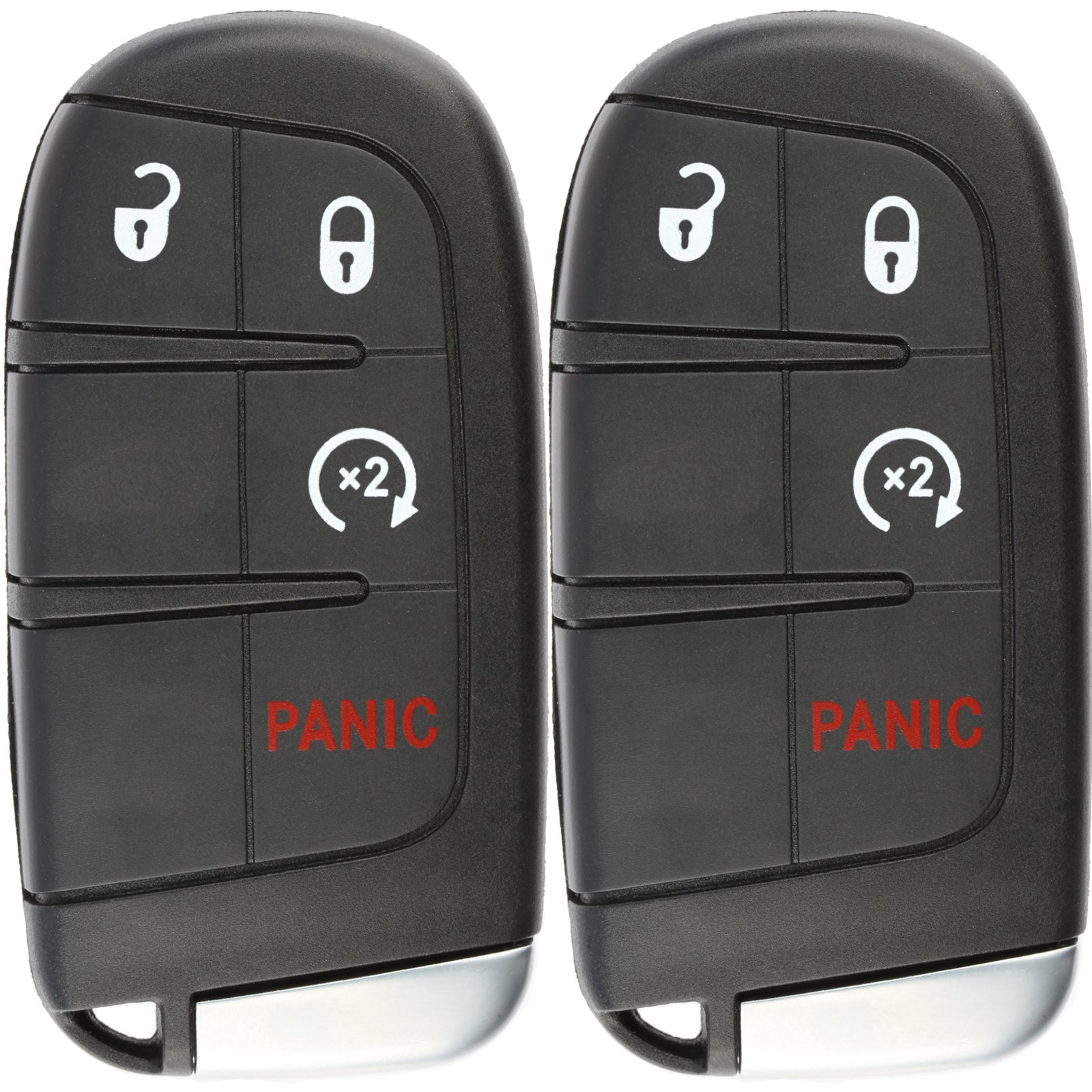 KeylessOption Keyless Entry Remote Car Smart Key Fob Starter for Dodge Journey Durango M3N-40821302 (Pack of 2)