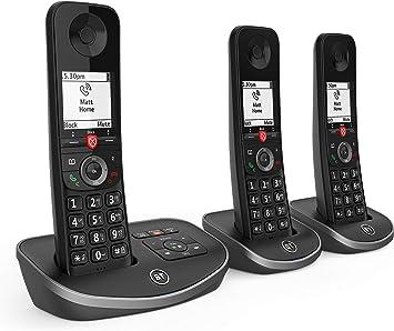 BT Avanzada inalámbrico teléfono de la casa con un 100% de Llamadas molestas Bloqueo y un contestador automático, Trio Auricular Paquete: Amazon.es: Electrónica
