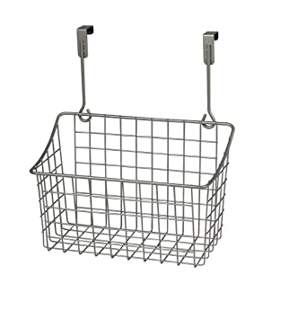 Spectrum Diversified Grid Storage Basket, Over The Cabinet, Medium, Satin  Nickel