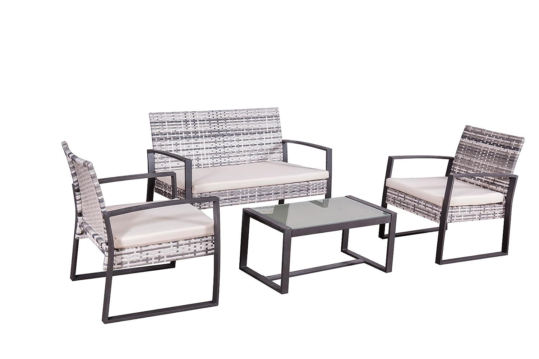 Jet-Line Conjunto de Muebles Lounge Salamanca en Gris Poli ...