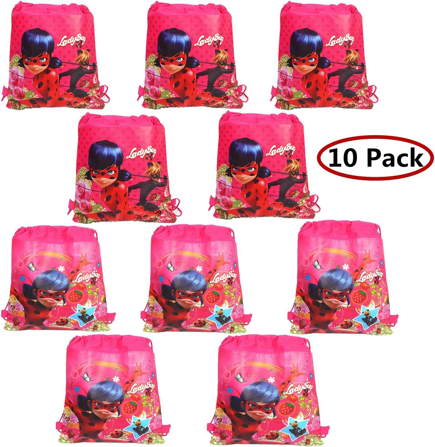 Geenber Ladybug Bolsas de Regalo Paquete de 10 Bolsas de Zapatos ...