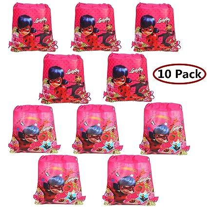 Amazon.com: Paquete de 10 bolsas de regalo de mariquita con ...