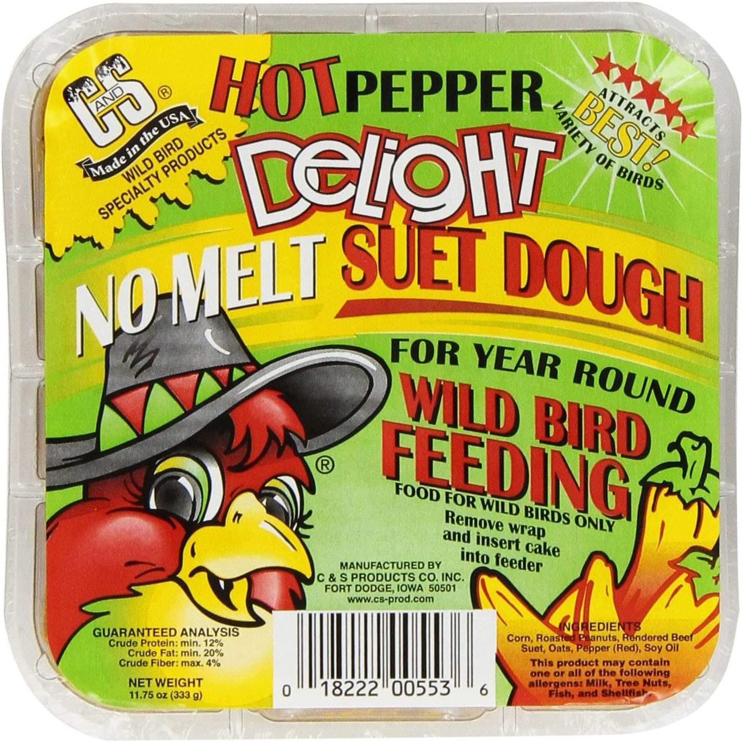 C & S Products Hot Pepper Delight 11.75 oz, 24-Piece