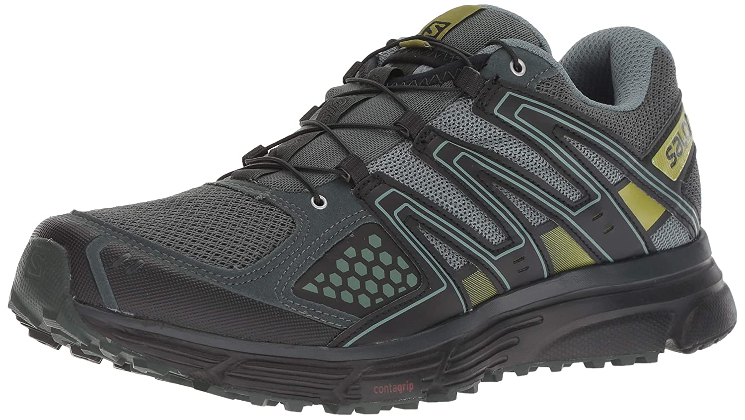 Salomon X-Mission 3, Zapatillas de Trail Running para Hombre, Verde (Urban Chic/Black/Guacamole), 42 EU