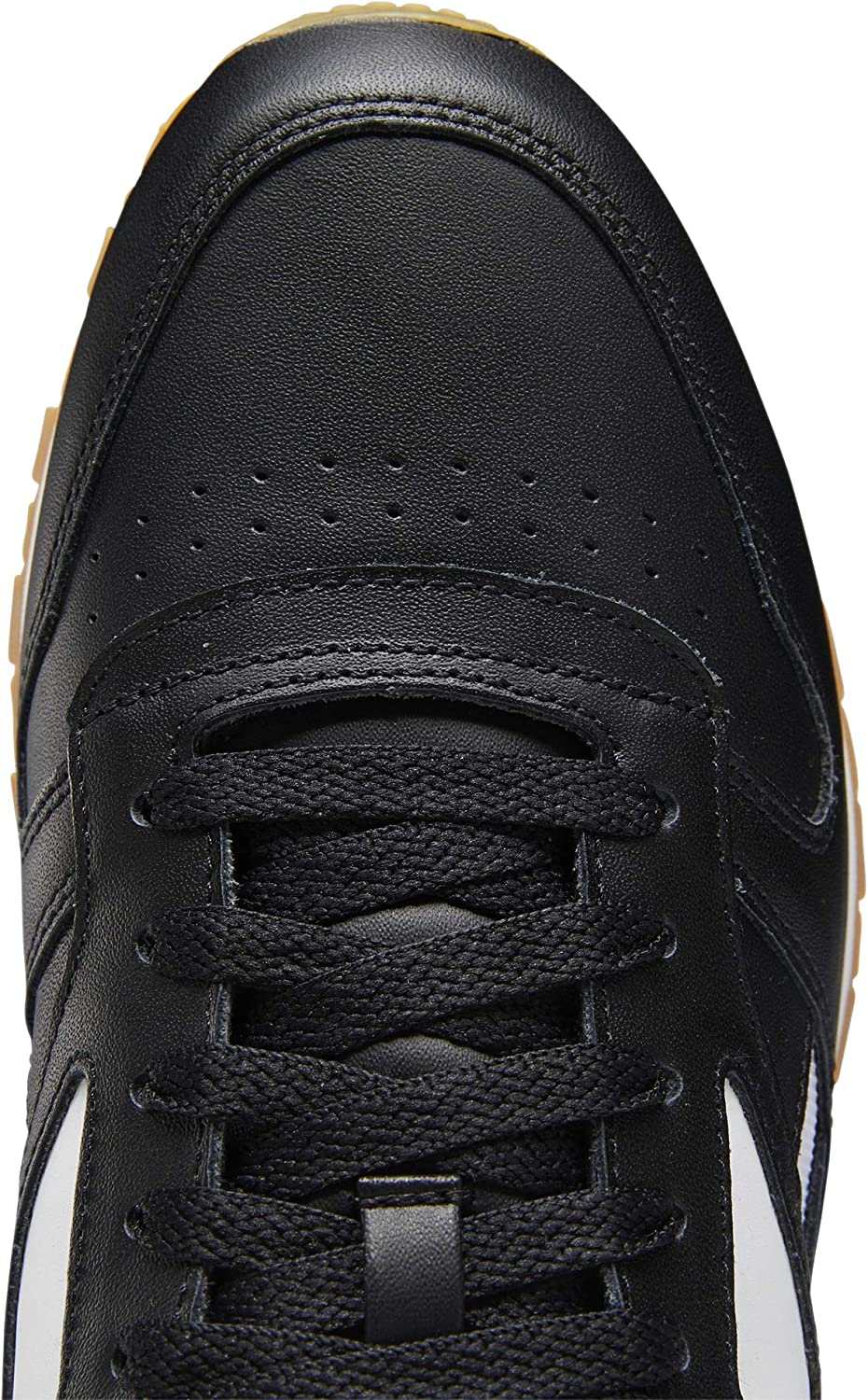 Reebok Cl Leather Mark, Gymnastics Shoe Homme Black White Black