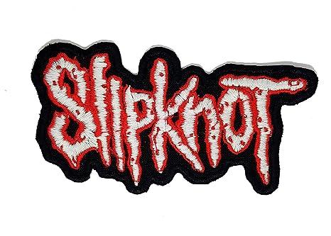 Slipknot Blanco - Bordado de alta calidad para coser o planchar sobre parches bordados para ropa