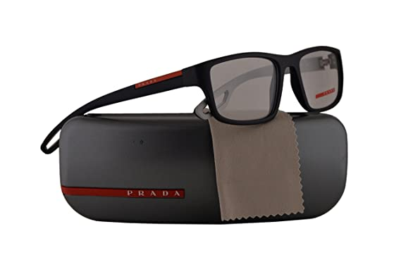 ac026e3fb18 Prada PS09GV Eyeglasses 55-18-140 Blue Rubber w Demo Clear Lens UR51O1  VPS09G VPS 09G PS 09GV  Amazon.co.uk  Clothing