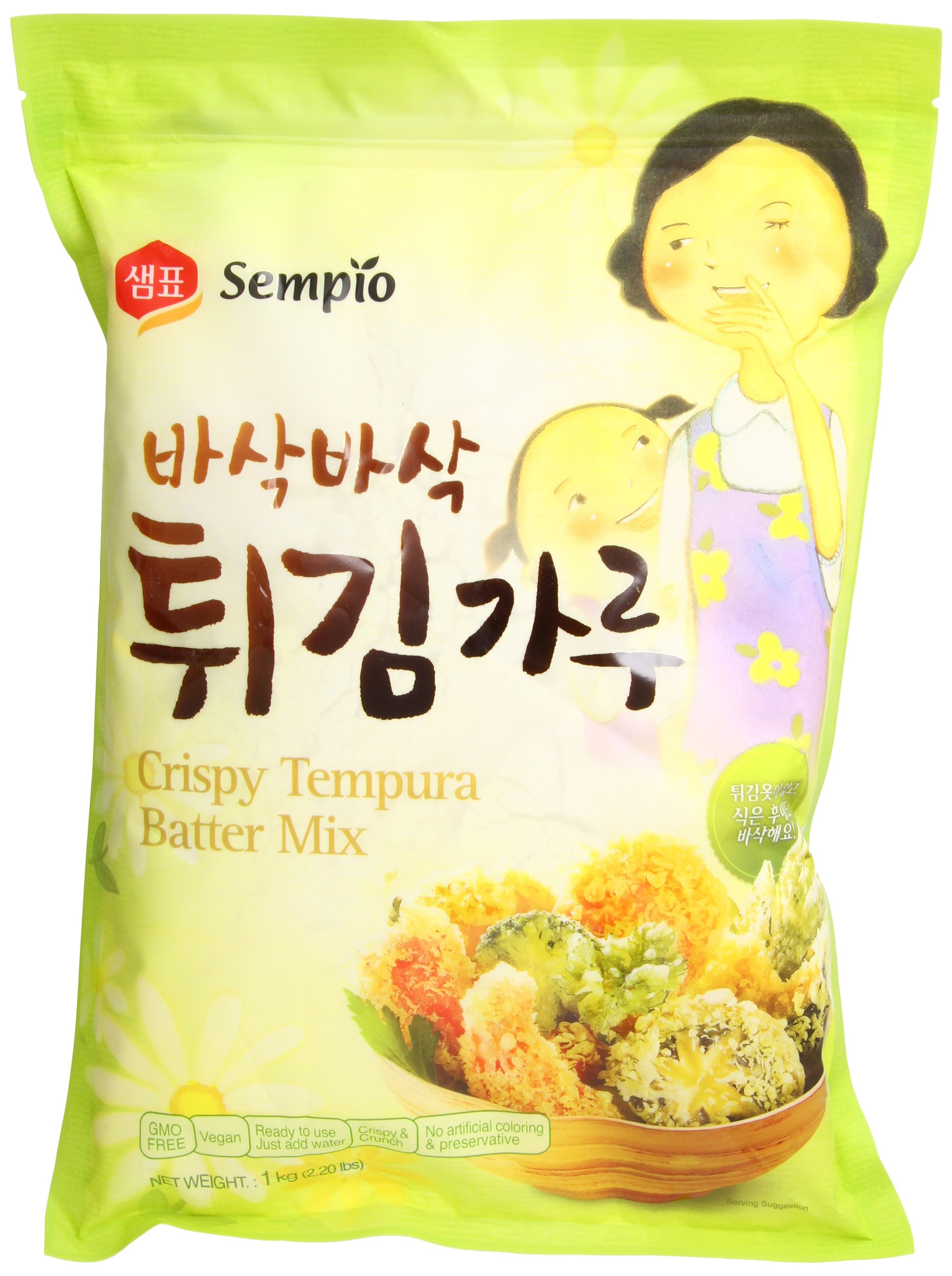 Sempio Crispy Tempura Batter Mix, 2.2 Pound (Pack of 10)