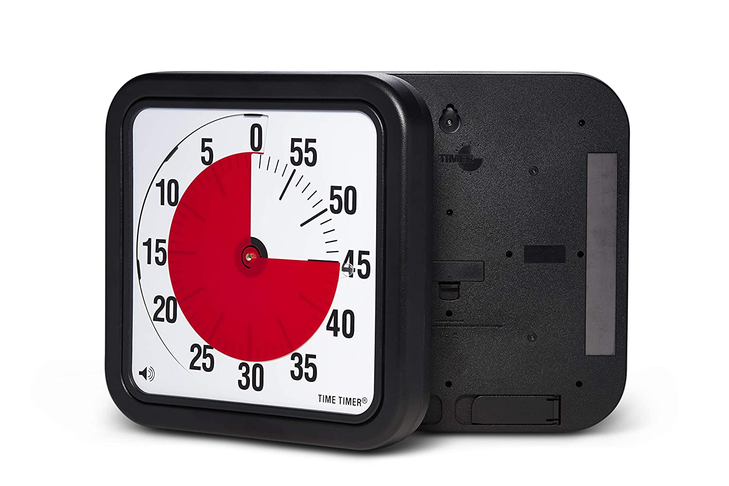 Original 12 inch MAGNETIC, A Visual Countdown 60 Minute Institutional Timer for Classroom, Meetings, Kids, Adults Office, and Homeschooling Study Tool with Silent Operation (Black)