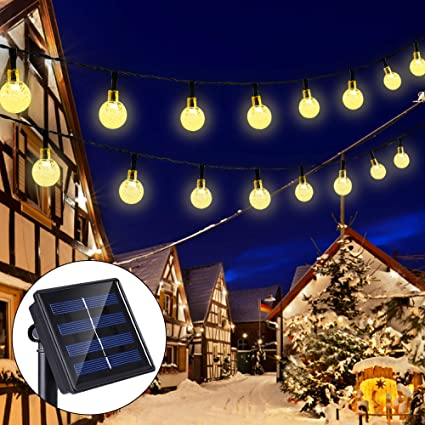LED Outdoor Solar Lamp String Fairy Lights Waterproof Christmas Party Decoration