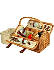 Picnic at Ascot Sussex Basket for 2, Wicker/Gazebo