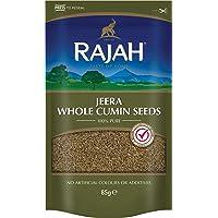 Rajah Semillas de comino, enteras - Jeera Whole Cumin Seeds - Mezcla de especias indias para numerosos platos 85 g