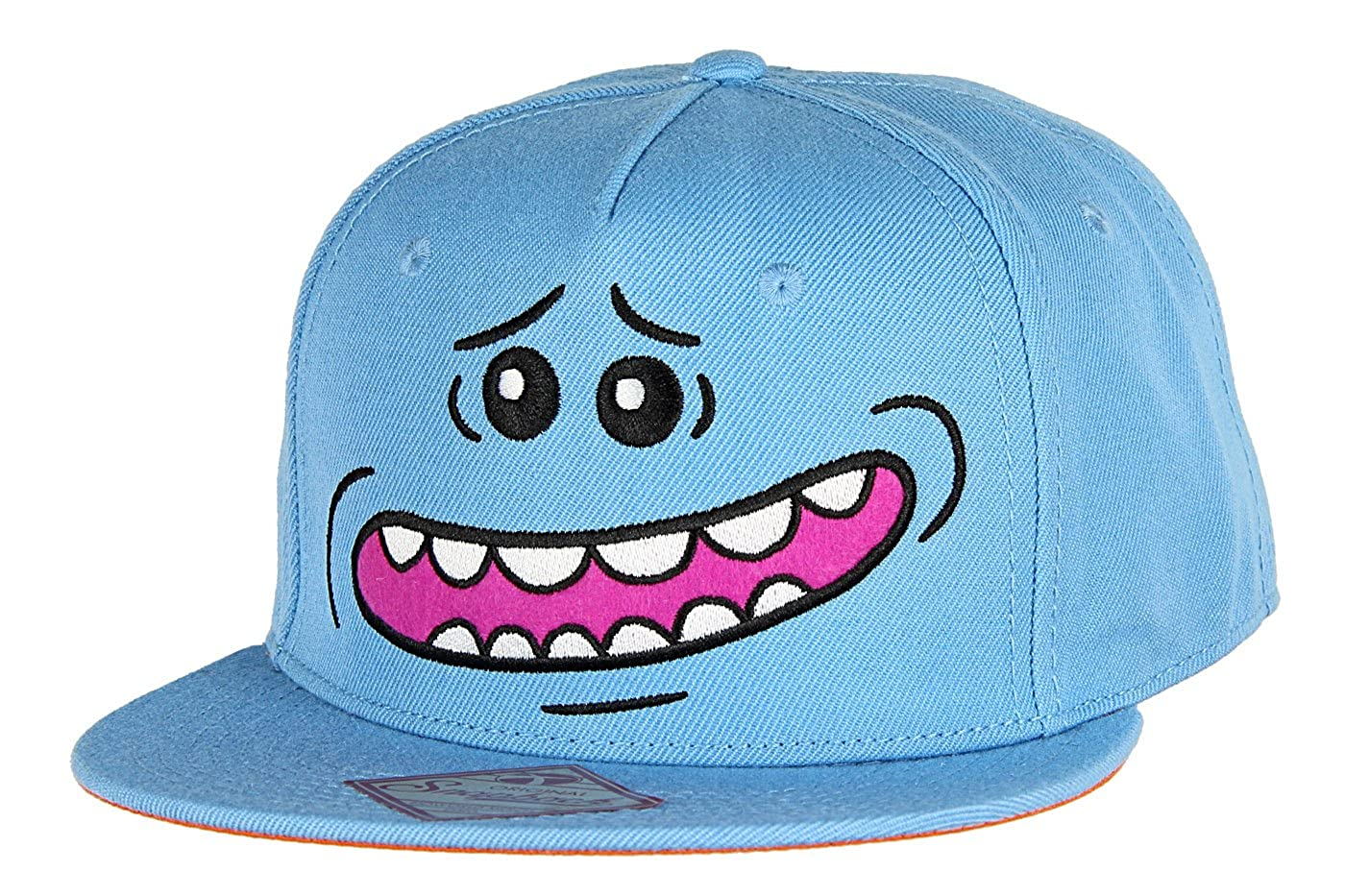bioworld Rick and Morty Tv Show Mr Meeseek Big Face Snapback Hat