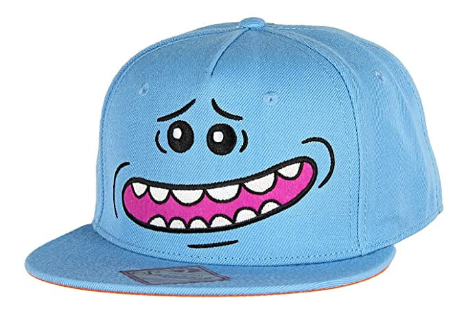 9fb1ed42630 RICK AND MORTY - Mr. Meeseeks Snapback Hat at Amazon Men s Clothing ...