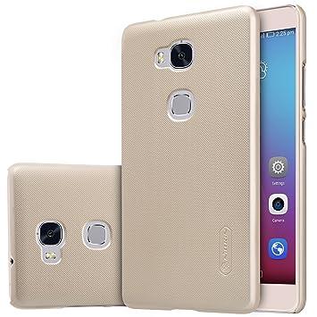 ELTD Honor 5X Funda, Slim Matte Series funda carcasa case para Honor 5X + 1 protector pantalla, Oro