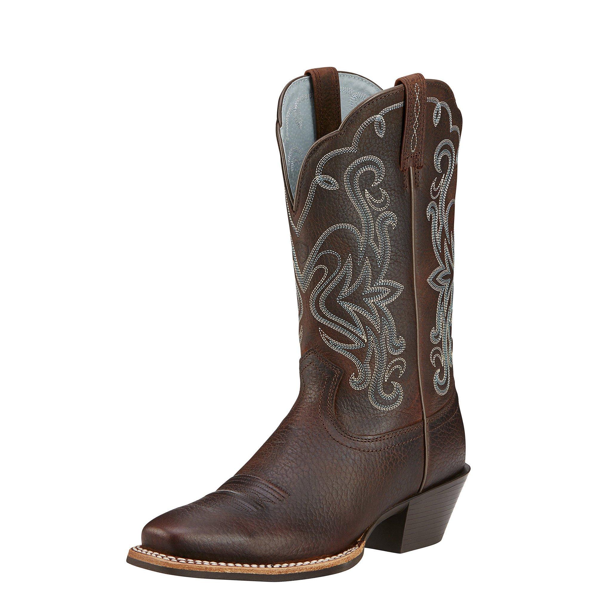 Ariat Women's Legend Western Cowboy Boot, Brown Oiled Rowdy, 9 B US