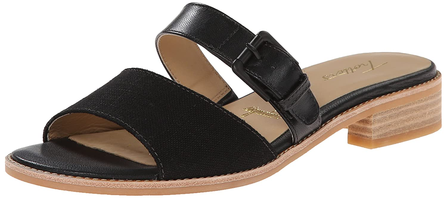 Trotters Women's Billy Dress Sandal B00M15NOUU 7.5 N US|Black/Black Linen