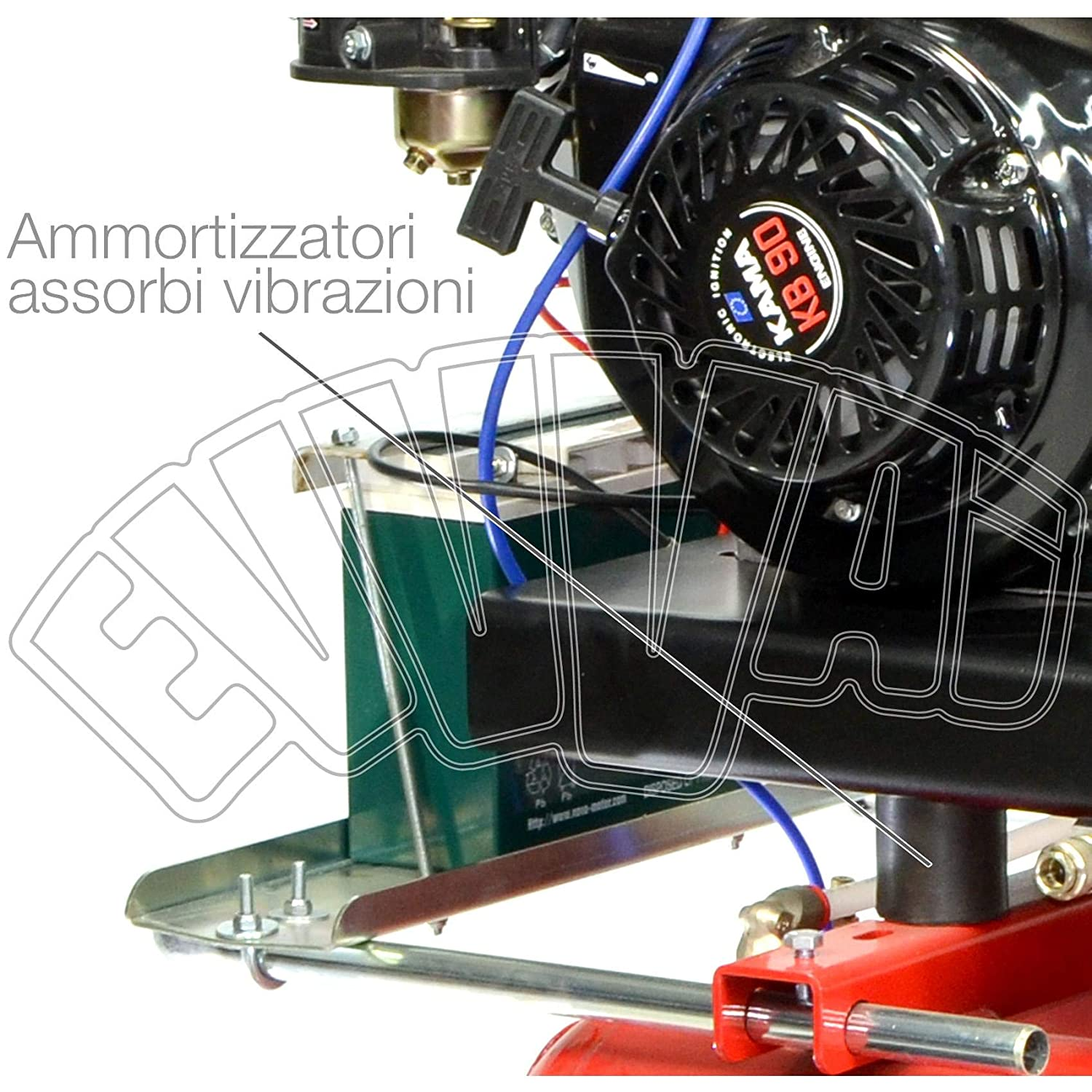 motocompressore 9 HP 22 + 22 Lt - gasolina arranque eléctrico Compresor Aire: Amazon.es: Hogar