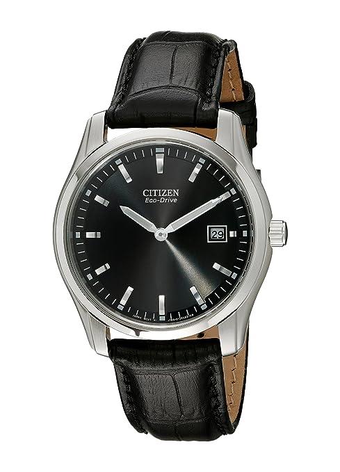 Citizen AU1040-08E - Reloj de Pulsera Hombre, Cuero, Color Negro: Amazon.es: Relojes