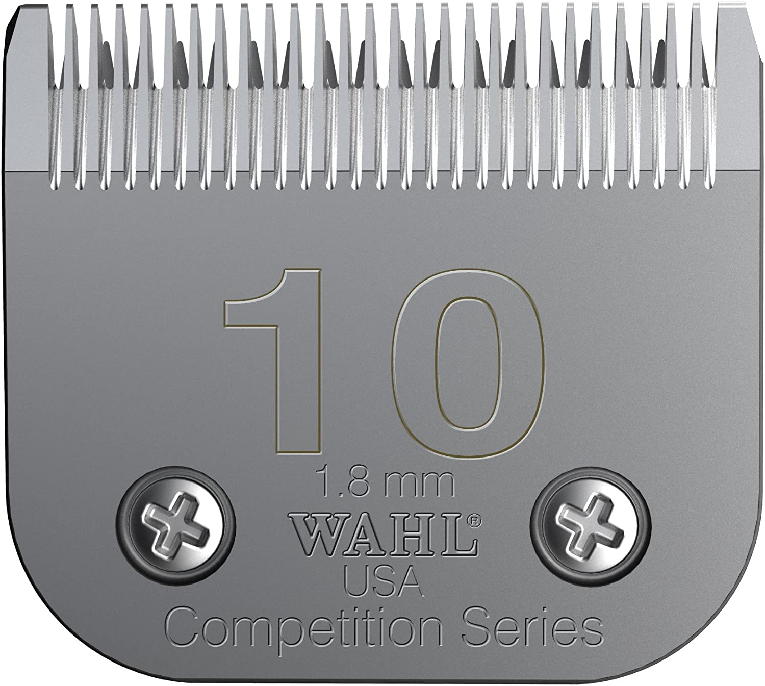 Pet Grooming Clipper Blades : Wahl Professional Animal #10 Medium Competition Series Detachable Blade with 1/16-Inch Cut Length (#2358-100), Steel