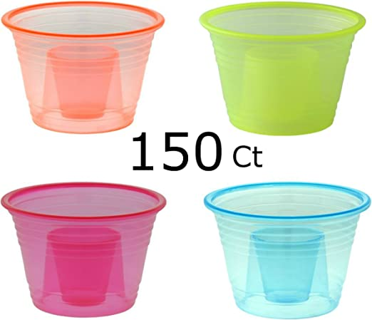 PLASTIC SHOT GLASSES 30ml 70 PACK FREE P+P FAST DISPATCH PARTY JAGERBOMBS