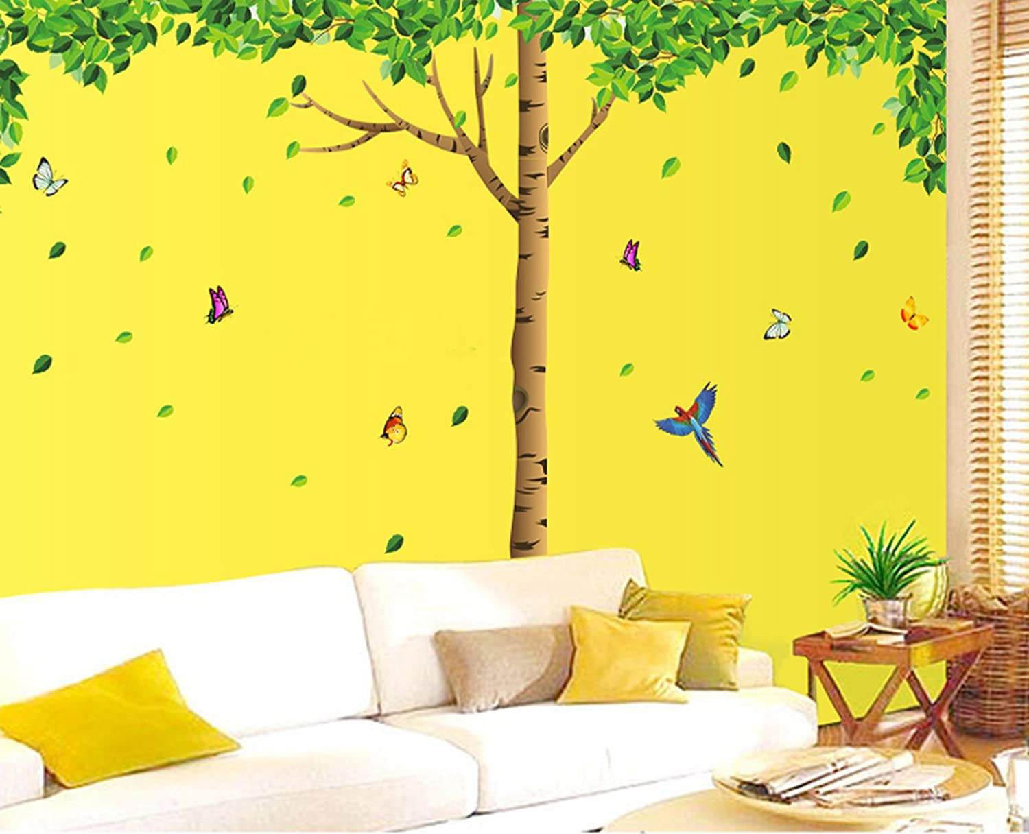 Buy UberLyfe we Have Beautiful Shady Tree with Falling Leaves Wall ...