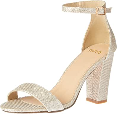 Novo Women's Glittery Strappy High Heel