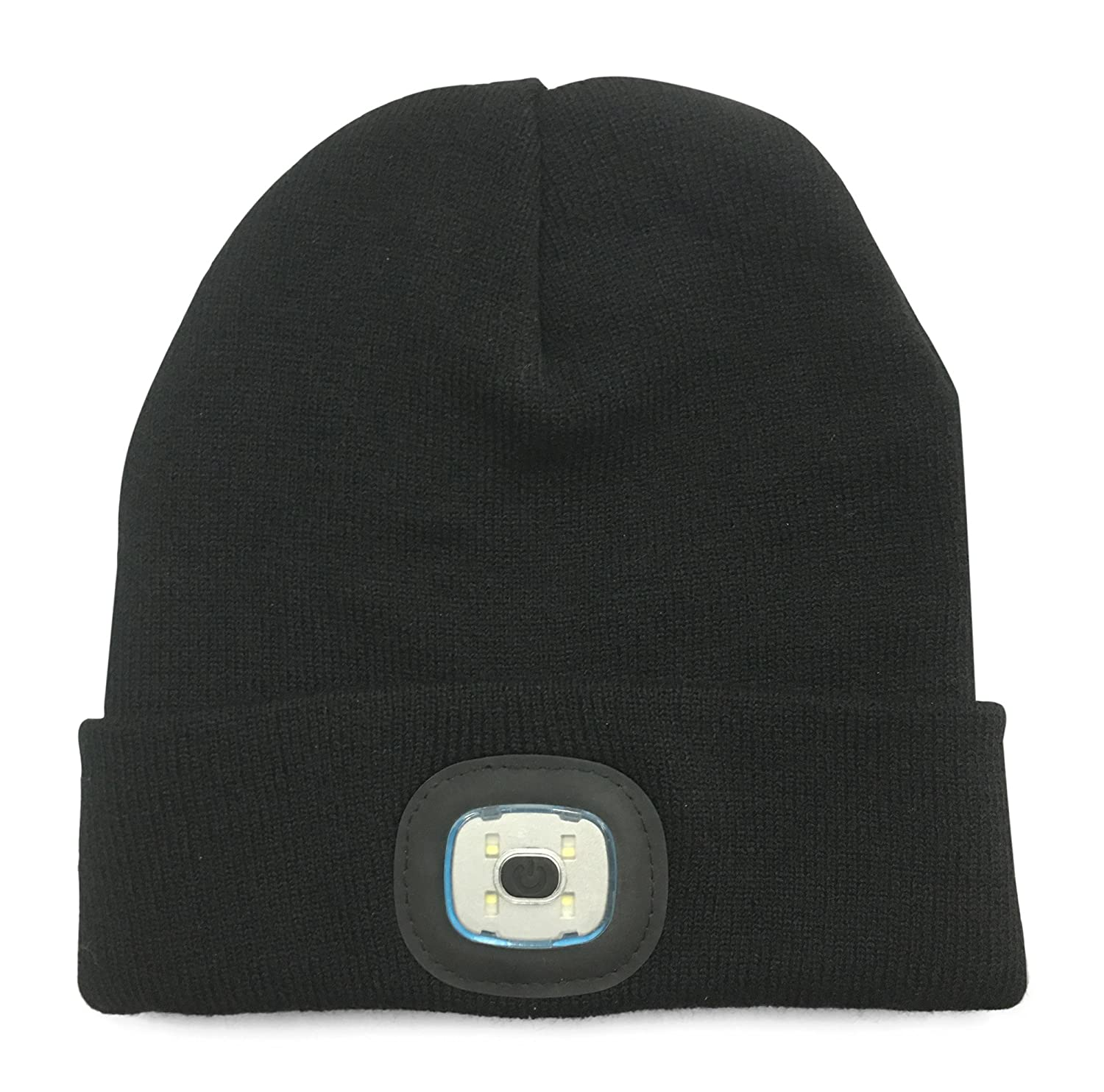 Beanie With 5 Built-in LED Flashlight - Hands-Free Hat: Amazon.co.uk ...