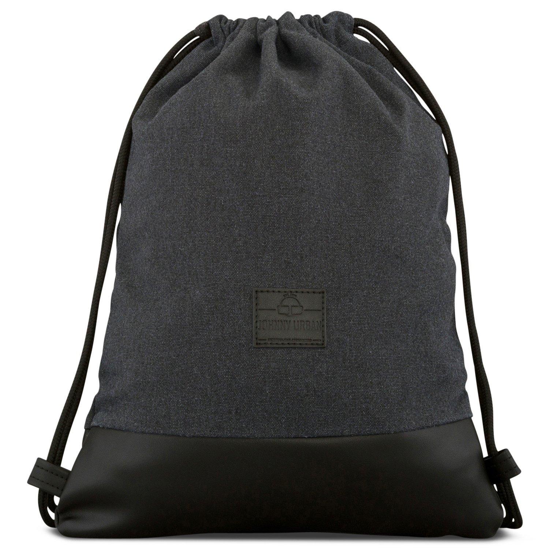 9727073e9a08 Amazon.com: Johnny Urban Drawstring Bag Cotton Anthra Black Gymsack Gym  Sack Men & Women: Sports & Outdoors