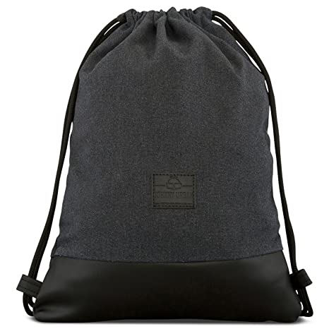3103fcb3a1f Amazon.com: Johnny Urban Drawstring Bag Cotton Anthra Black Gymsack Gym  Sack Men & Women: Clothing