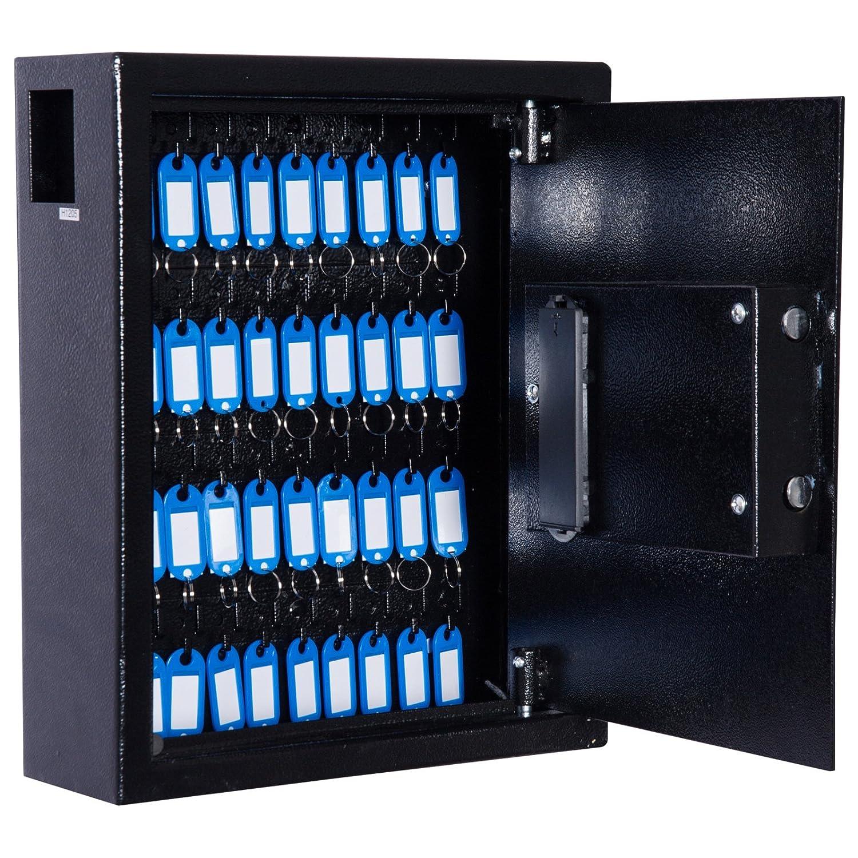 homcom Cassetta Armadietto Portachiavi con Combinazione Codice da Parete o Muro Metallo 30 × 36.5 × 10cm Aosom Italy
