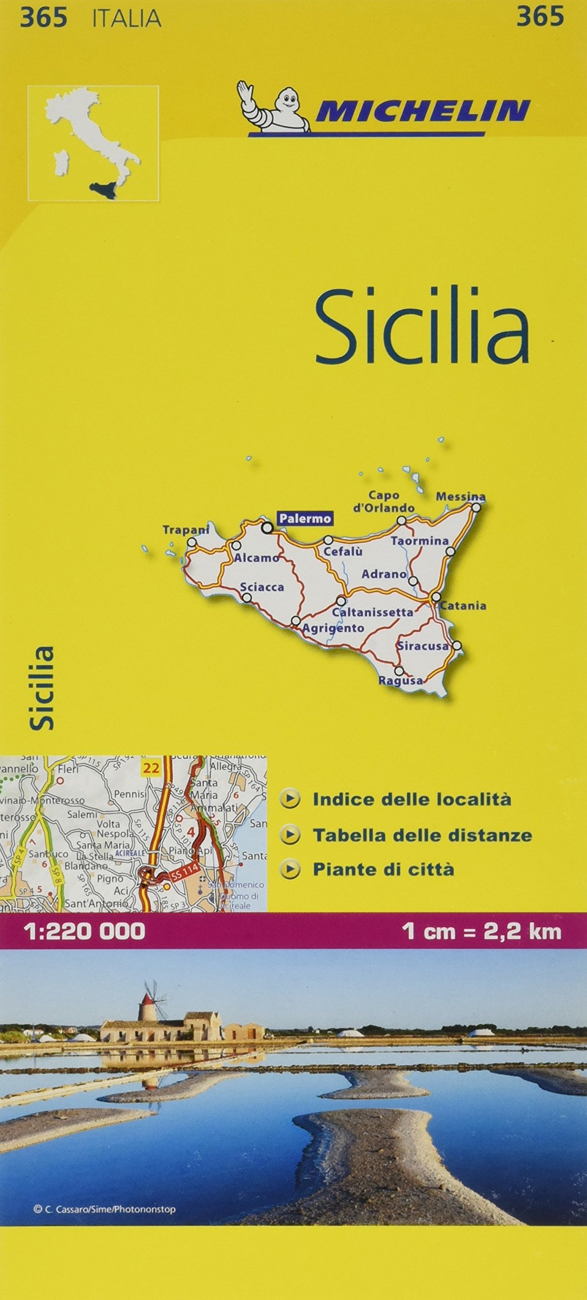Michelin Map Sicilia 365 Italy Sicily Maps Local Michelin