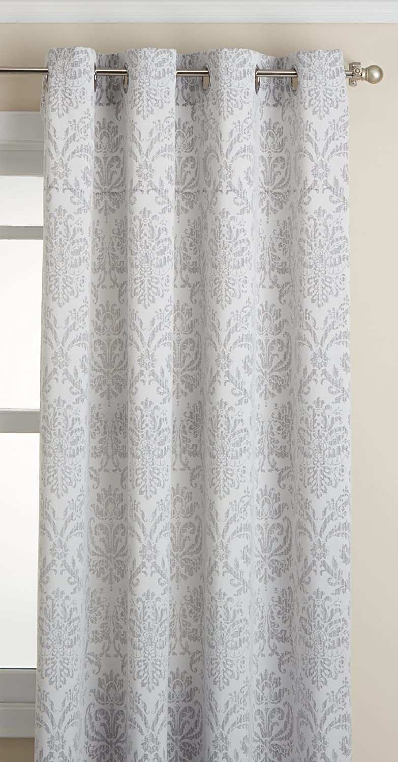 Taupe 54 x 84 Taupe 54 x 84 09047-84-00042 TAUPE LORRAINE HOME FASHIONS Stencil Grommet Window Curtain Panel 54 inch x 84 inch