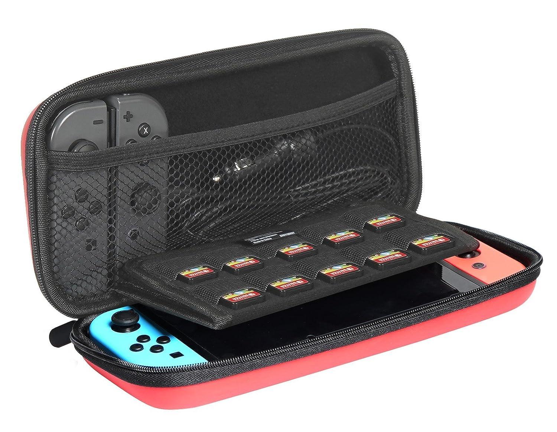 AmazonBasics - Funda de transporte para Nintendo Switch - Rojo