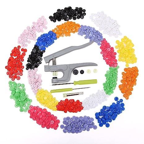 Carreguard Snap Alicates +T5 300 Botones en 20 Colores + Punzón ...