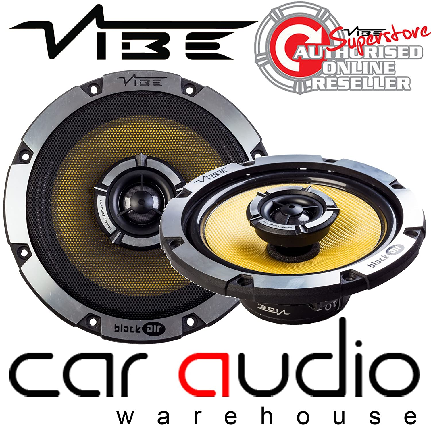 VIBE BLACKAIR 5 - 480 Watts a Pair 5.25' inch 13cm Co-axial Car Van Door Speakers BLACKAIR 5 COAXIAL
