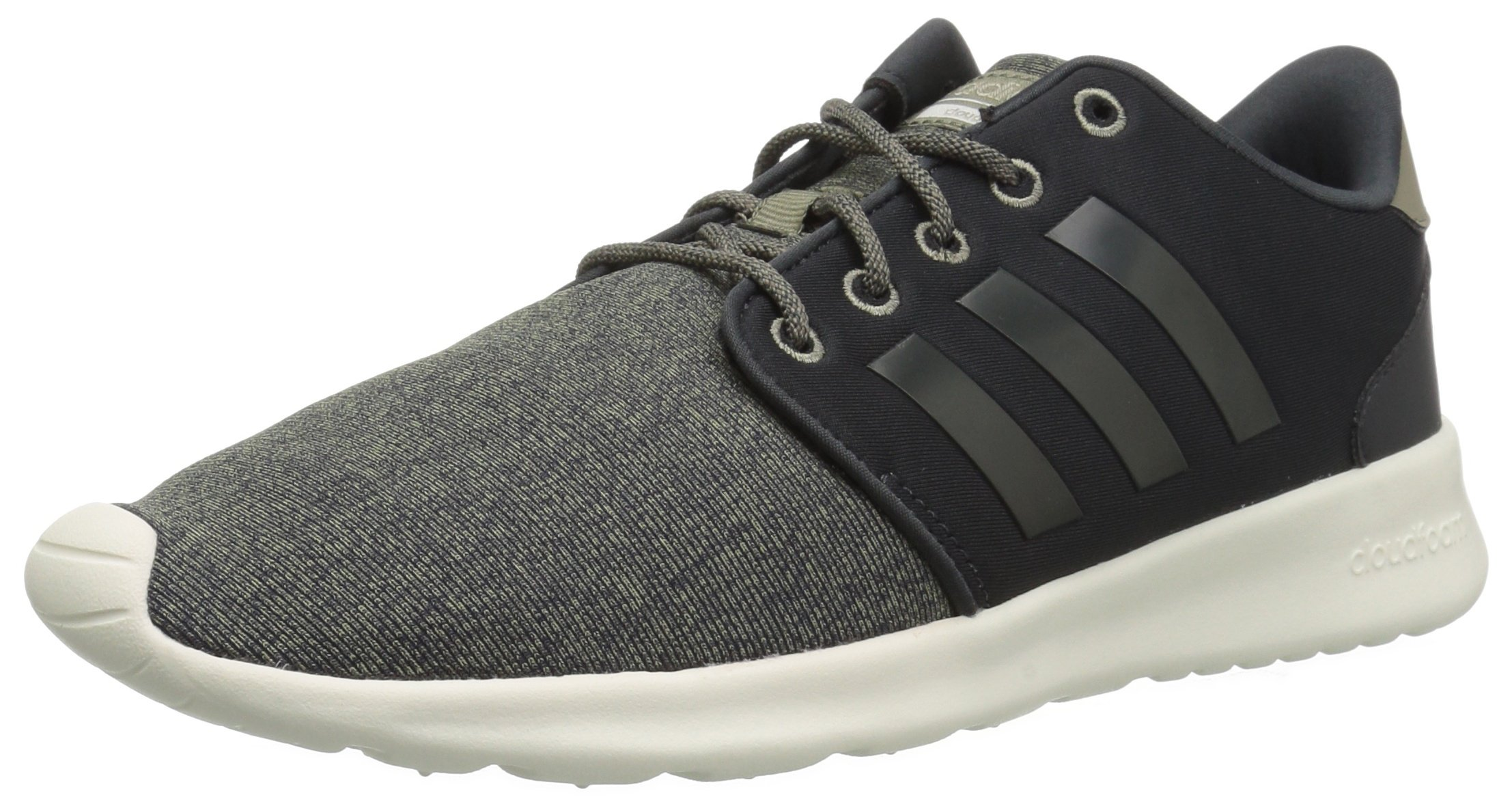adidas Women's CF QT Racer Running Shoe, Carbon/Trace Cargo, 5 M US