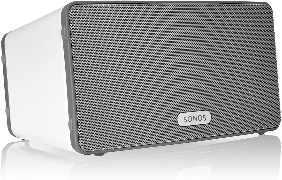 Sonos Play:3 - Mid-Sized Wireless Smart Home Speaker for Streaming Music, Amazon certified and works with Alexa. (White)