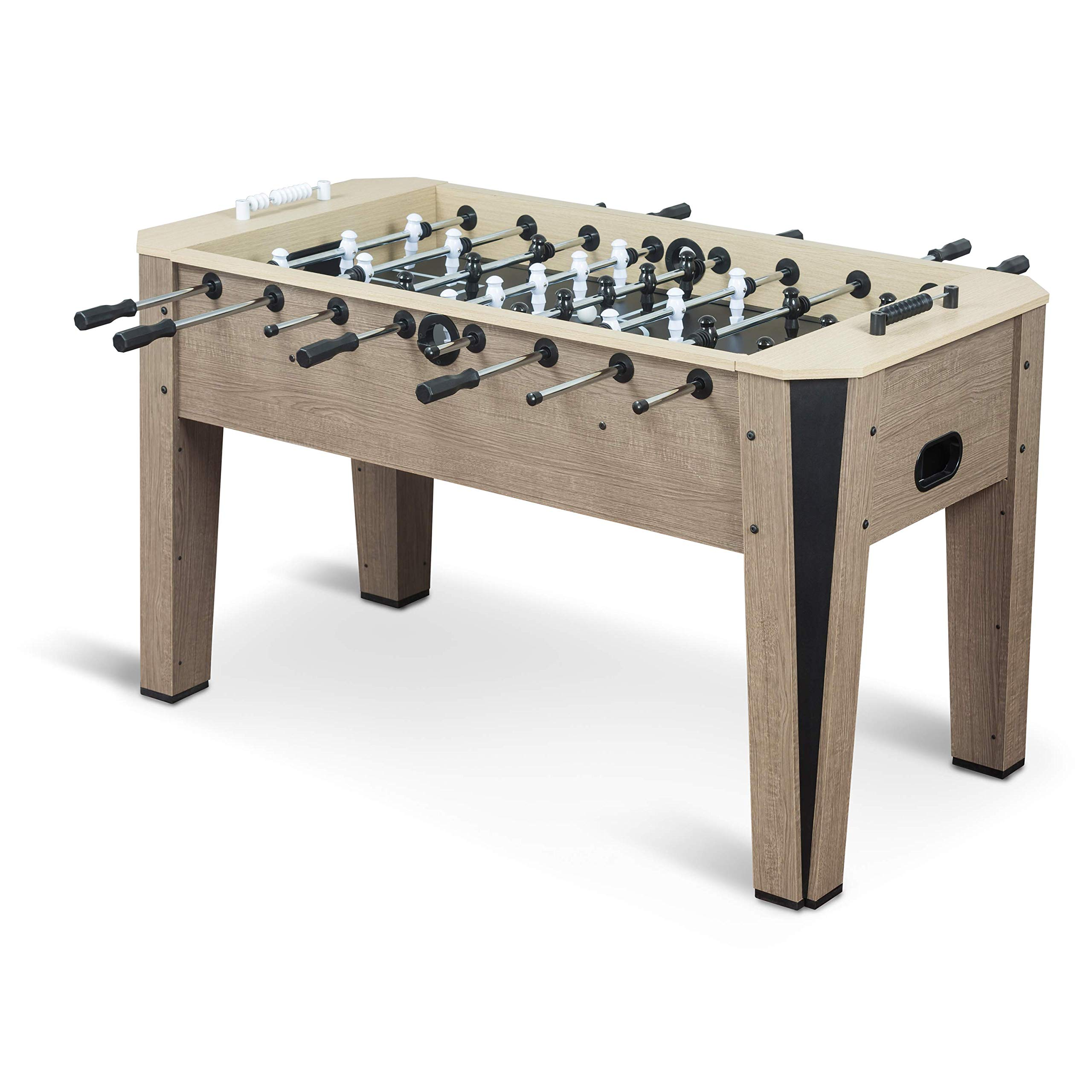 EastPoint Sports Ellington Foosball Table Game - 60 inches - Features Steal Player Rods, Bead Style Scoring, and includes 4 Foosball Balls by EastPoint Sports