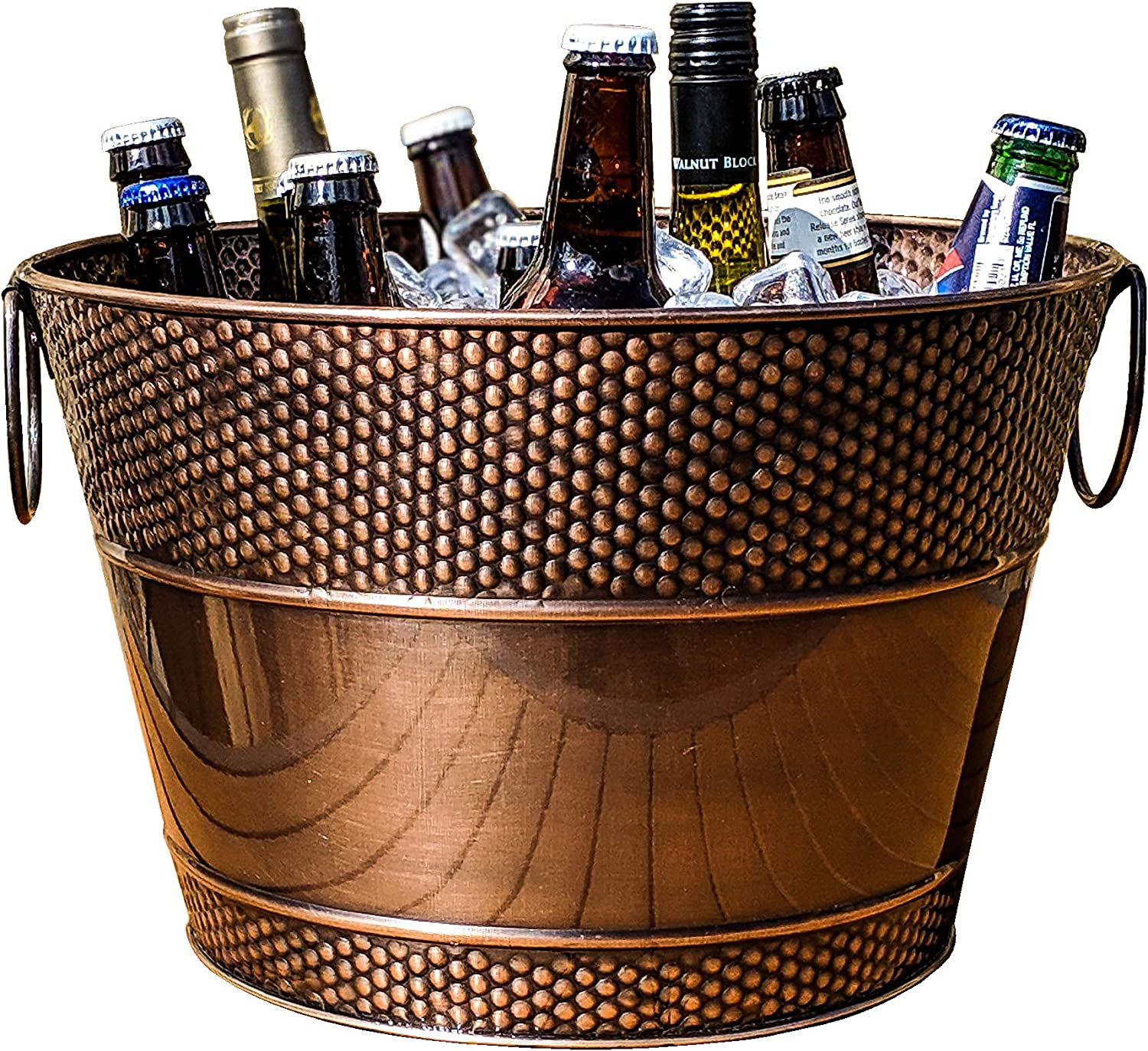 BREKX Old Tavern Copper Finish Beverage Bucket & Wine Chiller- 15 Quart