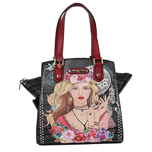 0abb8f346d Amazon.com  Nicole Lee Women s Multi-Functional  red  Lunch Handbag ...