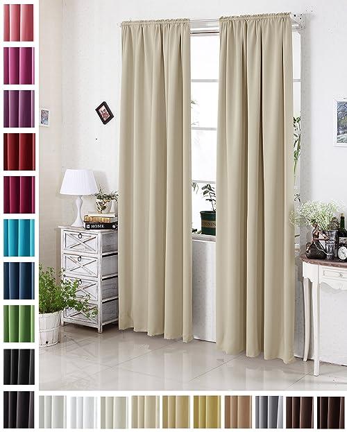 Amazonde WOLTU Gardine Vorhang Blickdicht Mit Kräuselband - Verdunkelungsvorhang schlafzimmer