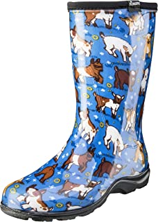 product image for Sloggers Women's Waterproof Rain and Garden Boot with Comfort Insole, Goats Sky Blue, Size 7, Style 5018GOBL07