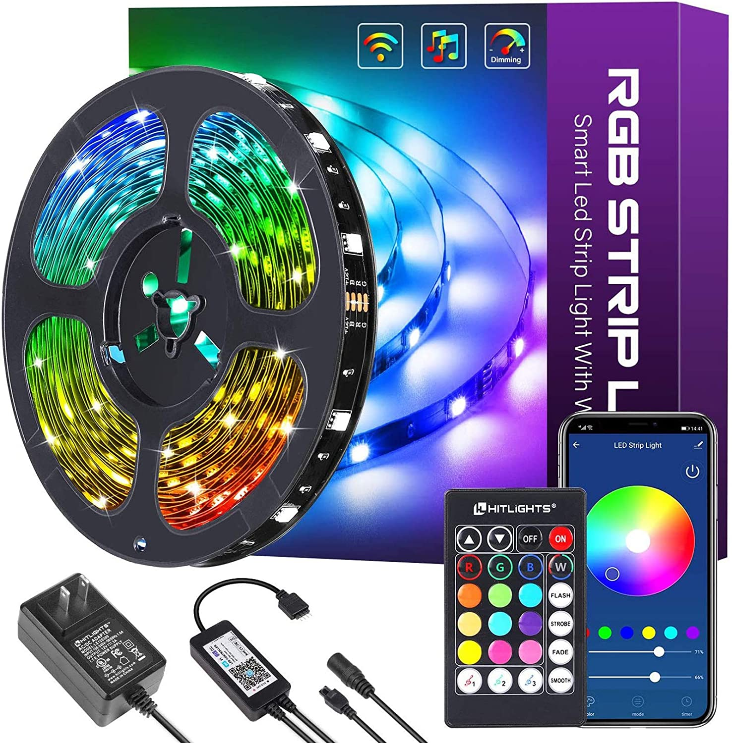 and Party with Bright 5050 LED Kitchen TV 16 Million Colors Govee 32.8ft WiFi LED Strip Lights Works with Alexa Home Google Home Smart Phone App Controlled Music Sync RGB Light Strips for Room