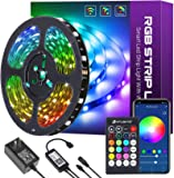 32.8ft Smart LED Strip Lights, HitLights LED Light Strips 5050 Color Changing Tape Lights Works with Alexa, Google Home…