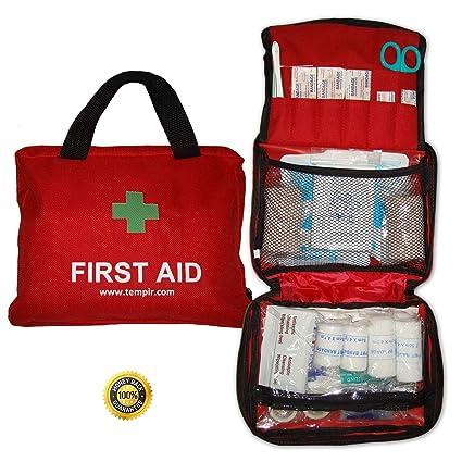 Amazon.com: Premium First Aid Kit Trauma Safety Bag 108Piece ...