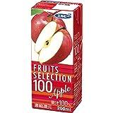 エルビー フルーツセレクション アップル100% 200ml×24本