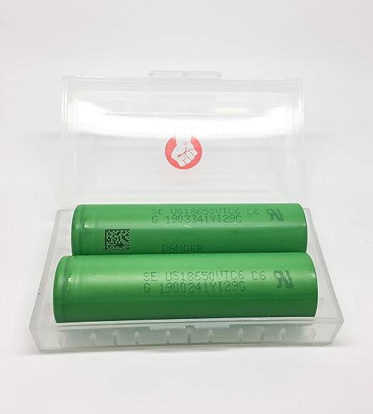 3 opinioni per 2x Sony US18650VTC6Li-Ion 1865030a, 3000mAh in vera di marca Pure Power®